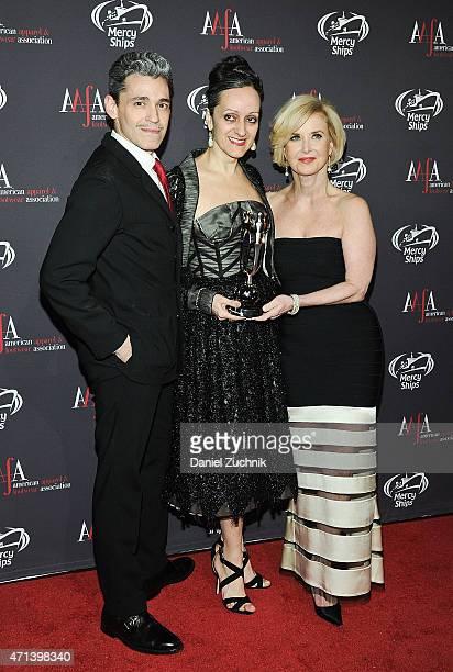 Ruben Toledo Isabel Toledo and Juanita D Duggan attend the AAFA American Image Awards at 583 Park Avenue on April 27 2015 in New York City