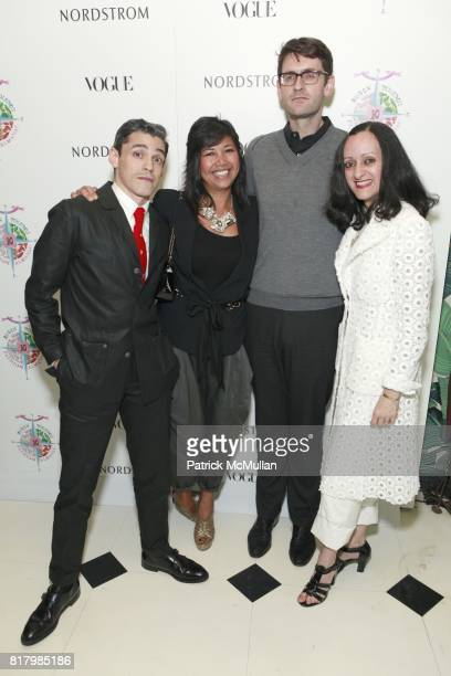 Ruben Toledo Pamela Lopez Mark Holgate Isabel Toledo attend VOGUE and NORDSTROM Celebrate The Preview of RUBEN TOLEDO'S FASHION ALMANAC at Indochine...