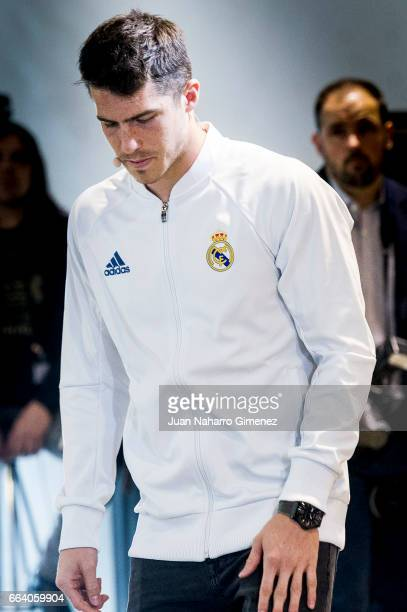 Ruben Yanez attends the presentation of the collaboration between Real Madrid and Microsoft for the first interactive audioguide that can be used to...