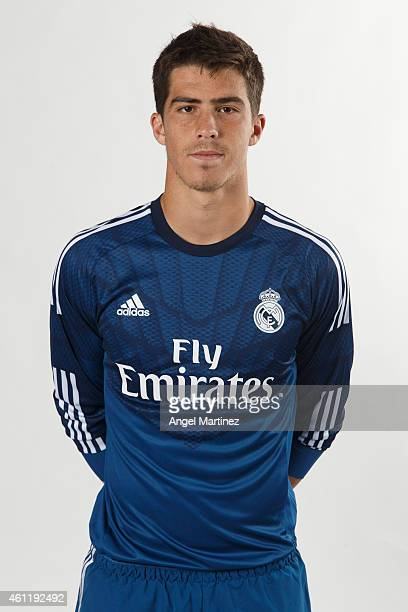 Ruben Yanez of Real Madrid Castilla poses during a portrait session at Ciudad Real Madrid on January 8 2015 in Madrid Spain