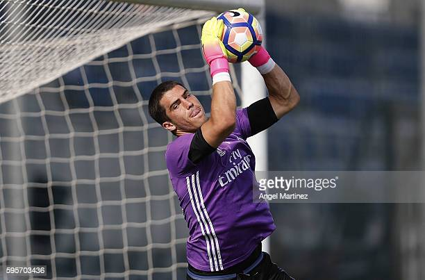 Ruben Yanez of Real Madrid in action during a training session at Valdebebas training ground on August 26 2016 in Madrid Spain