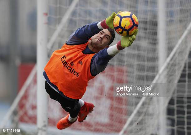 Ruben Yanez of Real Madrid in action during a training session at Valdebebas training ground on March 3 2017 in Madrid Spain