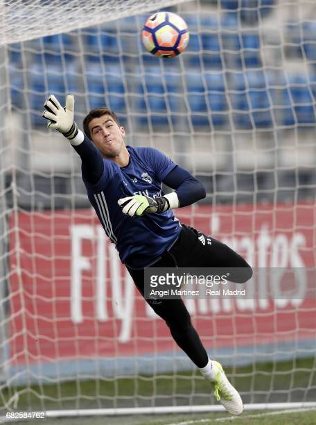Ruben Yanez of Real Madrid in action during a training session at Valdebebas training ground on May 13 2017 in Madrid Spain