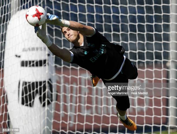 Ruben Yanez of Real Madrid in action during a training session at Valdebebas training ground on August 12 2017 in Madrid Spain