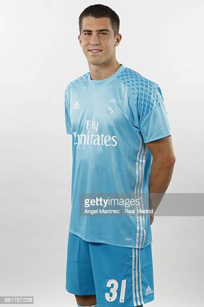 Ruben Yanez of Real Madrid poses during a portrait session at Valdebebas training ground on August 18 2016 in Madrid Spain