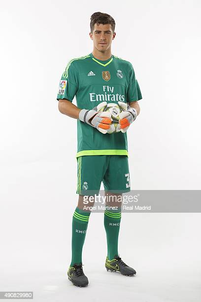 Ruben Yanez of Real Madrid poses during the official portrait photocall at Valdebebas training ground on September 28 2015 in Madrid Spain