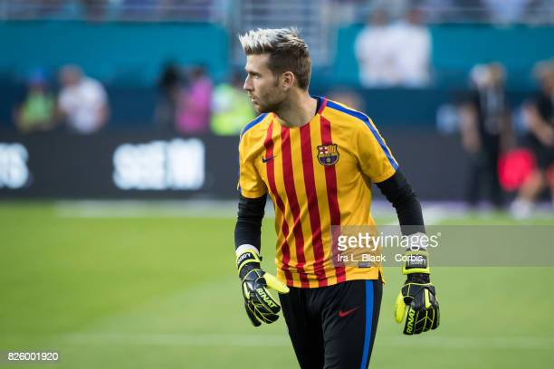 Ruben Yanez of Real Madrid warms up during the International Champions Cup El Clásico match between FC Barcelona and Real Madrid at the Hard Rock...