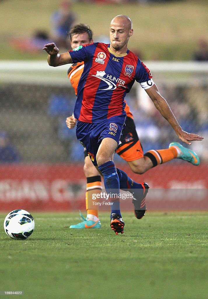 Ruben Zadkovich of the Jets in action during the round 16 A-League match between the Newcastle Jets and the Brisbane Roar at Hunter Stadium on January 12, 2013 in Newcastle, Australia.