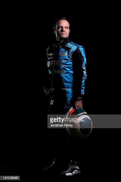 Rubens Barichello of Brazil driver of the BMC KV Racing Technolgy Chevy Dallara DW12 poses for a portrait at the Mahaffey Theater on March 6 2012 in...
