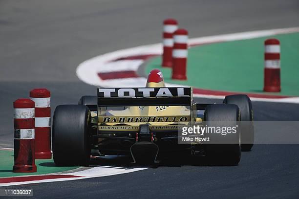 Rubens Barrichello drives the Benson and Hedges Jordan Peugeot Jordan 196 Peugeot 30 V10 during the European Grand Prix on 28th April 1996 at the...