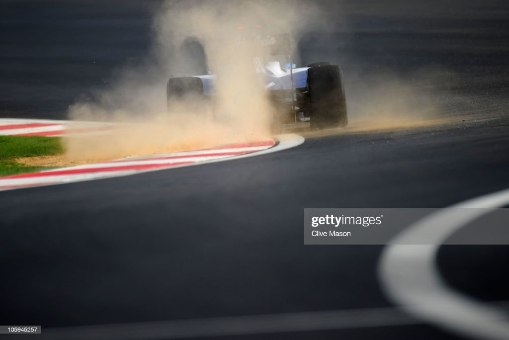 Rubens Barrichello of Brazil and Williams drives during practice for the Korean Formula One Grand Prix at the Korea International Circuit on October 22, 2010 in Yeongam-gun, South Korea.