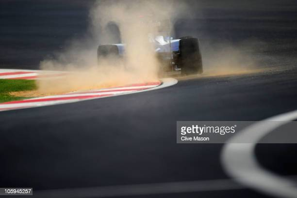 Rubens Barrichello of Brazil and Williams drives during practice for the Korean Formula One Grand Prix at the Korea International Circuit on October...
