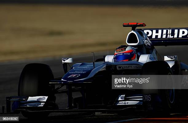 Rubens Barrichello of Brazil and Williams drives his car during winter testing at the Ricardo Tormo Circuit on February 2 2010 in Valencia Spain