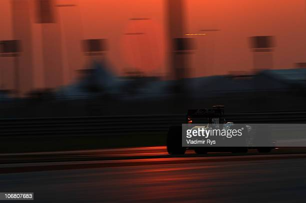 Rubens Barrichello of Brazil and Williams drives his car during qualifying for the Abu Dhabi Formula One Grand Prix at the Yas Marina Circuit on...