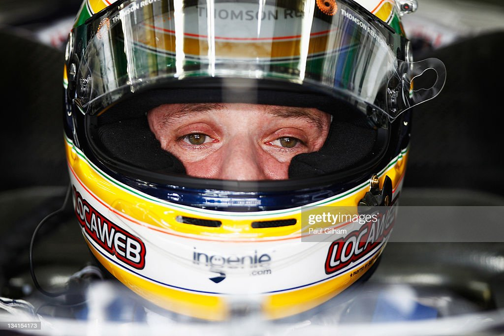 Rubens Barrichello of Brazil and Williams prepares to drive during the Brazilian Formula One Grand Prix at the Autodromo Jose Carlos Pace on November 27, 2011 in Sao Paulo, Brazil.