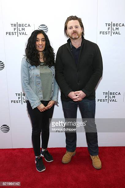 Rubika Shah and Ed Gibbs of 'Let's Dance Bowie Down Under' attend the Tribeca Film Festival Shorts Rock And A Hard Place at Regal Battery Park...