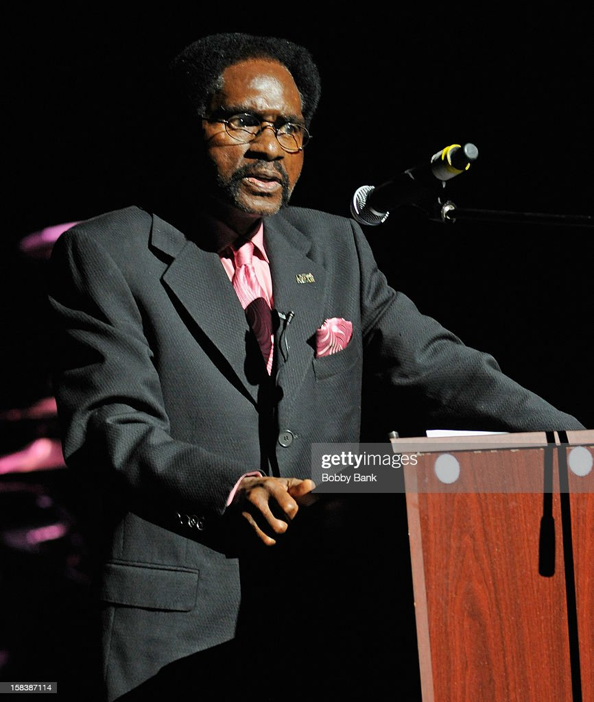 Rubin 'Hurricane'Carter performs at the 'Bring Leonard Peltier Home 2012' Concert at The Beacon Theatre on December 14, 2012 in New York City.