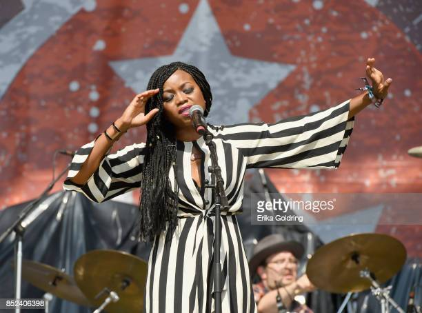 Ruby Amanfu perfroms with Steelism on the Synchrony Financial Midnight Sun Stage at the 2017 Pilgrimage Music and Cultural Festival on September 24...