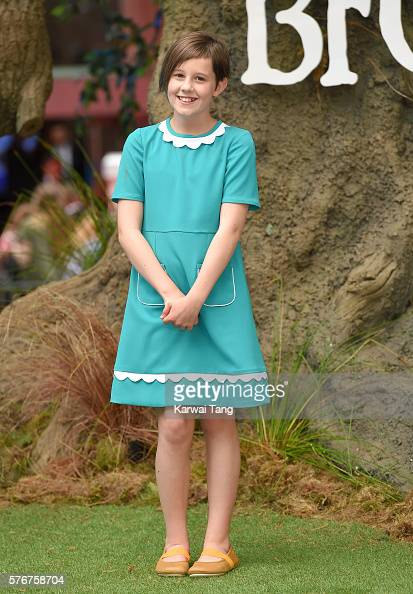 Ruby Barnhill arrives for the UK film premiere of 'The BFG' at Odeon Leicester Square on July 17 2016 in London England