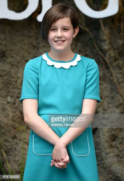 Ruby Barnhill attends the UK film premiere of the BFG on July 17 2016 in London England