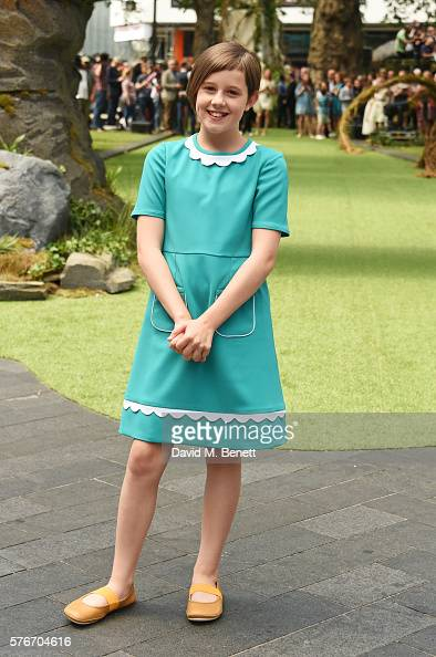 Ruby Barnhill attends the UK Premiere of 'The BFG' at Odeon Leicester Square on July 17 2016 in London England
