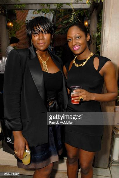 Ruby Charles and Beagy Zielinski attend Leigh Lezark Justin Thornton and Thea Bregazzi Celebrate the Launch of SS10 Collection at The Yard on...
