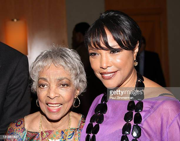 Ruby Dee and Lynn Whitfield attend Woodie King Jr's New Federal Theatre's 40th anniversary gala at Trump Plaza on April 25 2011 in New York City