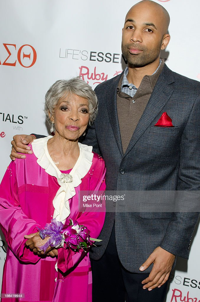 <a gi-track='captionPersonalityLinkClicked' href=/galleries/search?phrase=Ruby+Dee&family=editorial&specificpeople=217744 ng-click='$event.stopPropagation()'>Ruby Dee</a> and MutaÕAli attend the 'Life's Essentials With <a gi-track='captionPersonalityLinkClicked' href=/galleries/search?phrase=Ruby+Dee&family=editorial&specificpeople=217744 ng-click='$event.stopPropagation()'>Ruby Dee</a>' screening at The Schomburg Center for Research in Black Culture on November 14, 2012 in New York City.
