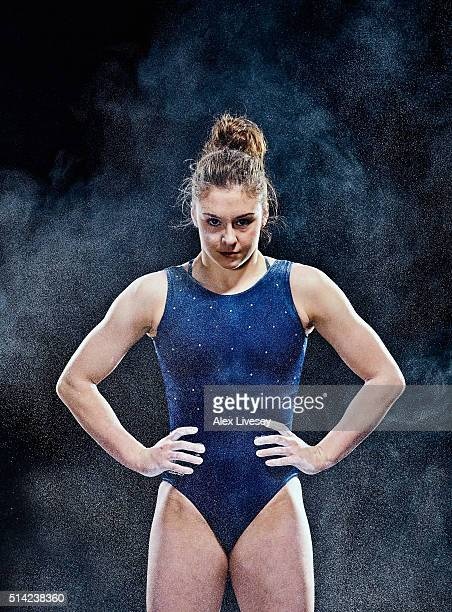Ruby Harrold of the British Gymnastics Team poses during a portrait session at Lilleshall National Sports Centre on February 11 2016 in Shropshire...