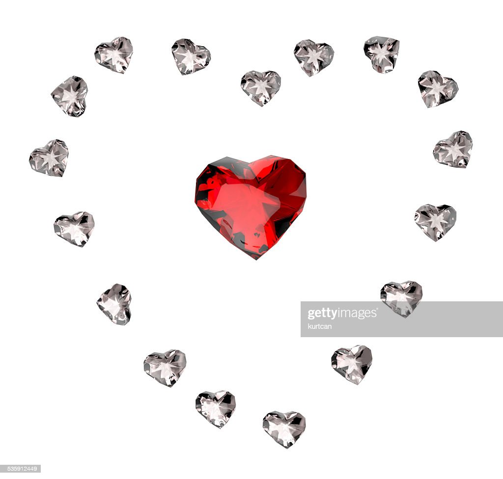 ruby heart : Stock Photo