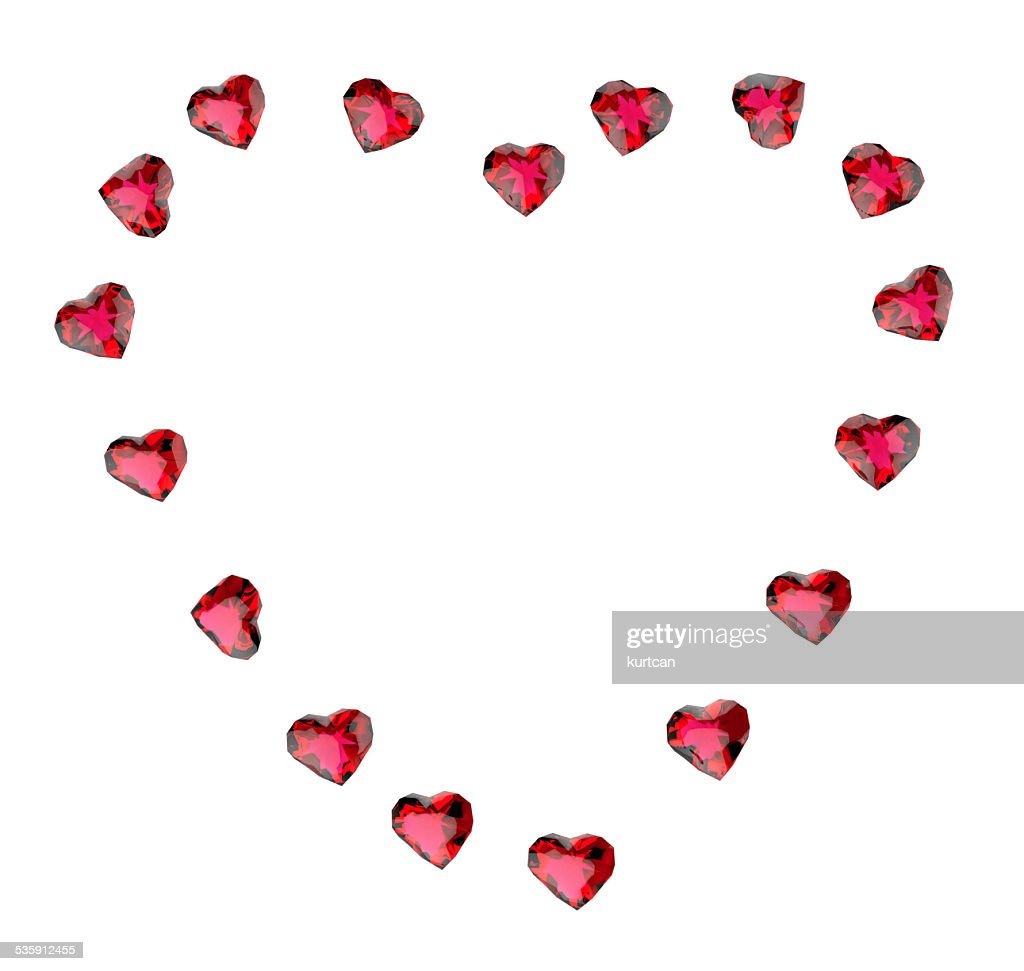 ruby heart : Stock Photo
