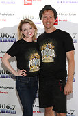 Ruby Lewis and Bret Shuford from the cast of 'Cirque du Soleil PARAMOUR' attends 1067 LITE FM's Broadway in Bryant Park in Bryant Park on July 21...