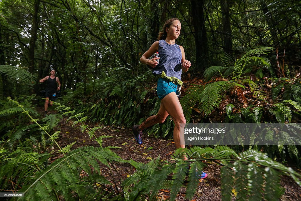 Ruby Muir of New Zealand competes during the Tarawera Ultramarathon on February 6, 2016 in Rotorua, New Zealand.