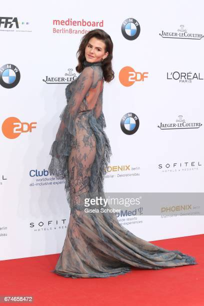 Ruby O Fee during the Lola German Film Award red carpet arrivals at Messe Berlin on April 28 2017 in Berlin Germany