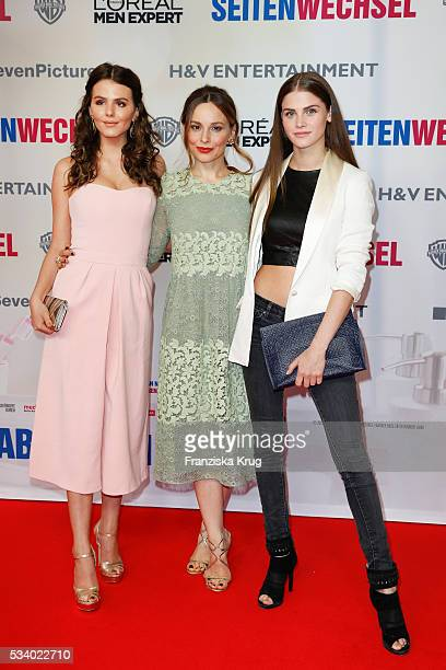 Ruby O Fee Mina Tander and Lisa Tomaschewsky attend the premiere of 'Seitenwechsel' at the Zoo Palast on May 24 2016 in Berlin Germany