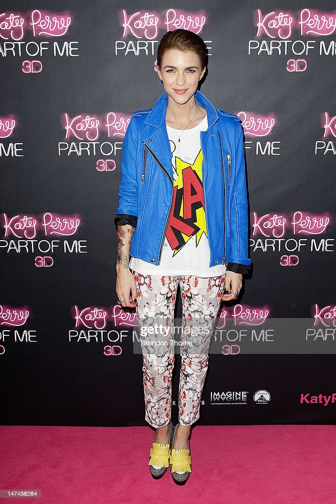 <a gi-track='captionPersonalityLinkClicked' href=/galleries/search?phrase=Ruby+Rose&family=editorial&specificpeople=4864808 ng-click='$event.stopPropagation()'>Ruby Rose</a> arrives at the 'Katy Perry: Part Of Me' Australian Premiere on June 30, 2012 in Sydney, Australia.