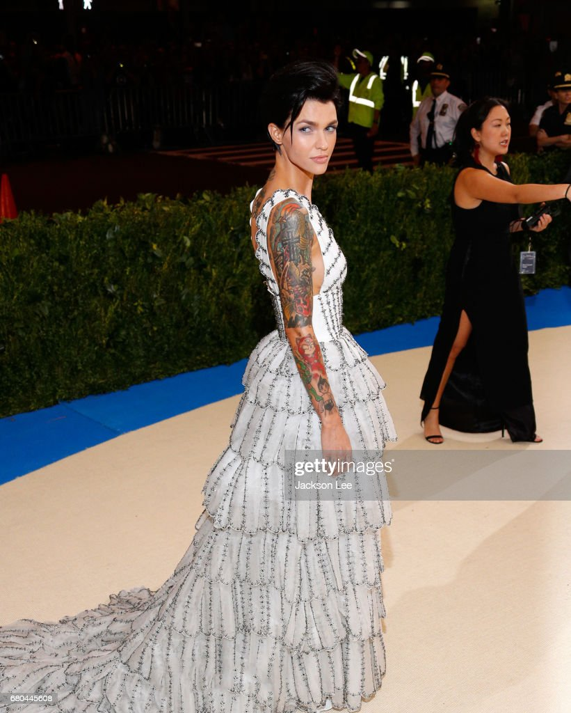 Ruby Rose at 'Rei Kawakubo/Comme des Garçons:Art of the In-Between' Costume Institute Gala at Metropolitan Museum of Art on May 1, 2017 in New York City.
