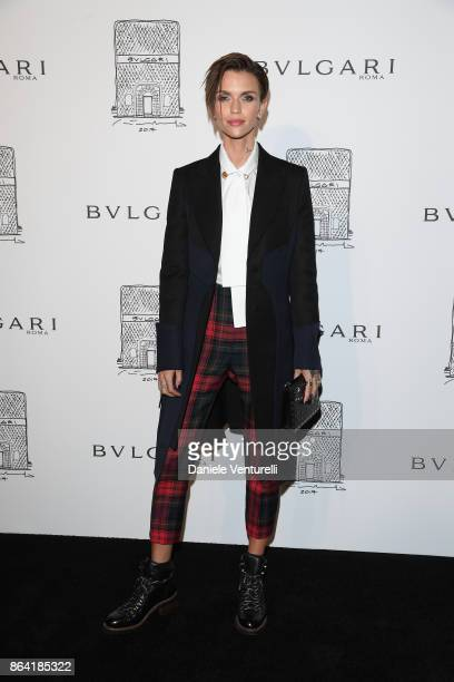 Ruby Rose attends a party to celebrate the Bvlgari Flagship Store Reopening on October 20 2017 in New York City