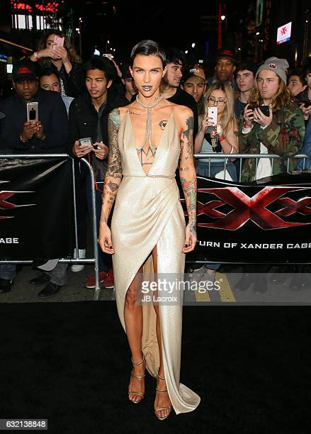 Ruby Rose attends the premiere of Paramount Pictures' 'xXx Return Of Xander Cage' on January 19 2017 in Los Angeles California