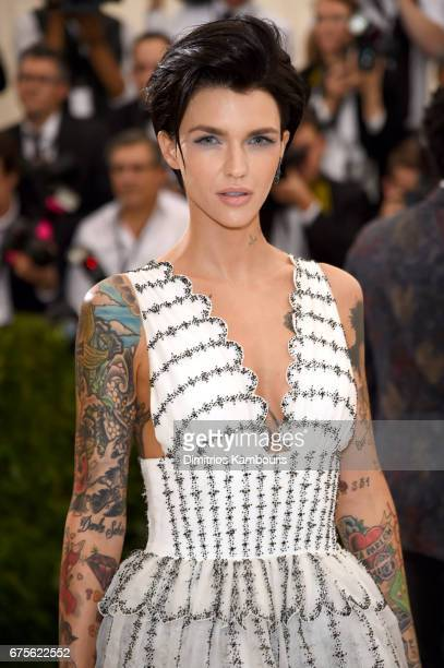 Ruby Rose attends the 'Rei Kawakubo/Comme des Garcons Art Of The InBetween' Costume Institute Gala at Metropolitan Museum of Art on May 1 2017 in New...