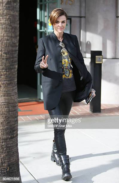 Ruby Rose is seen on January 11 2016 in Los Angeles California