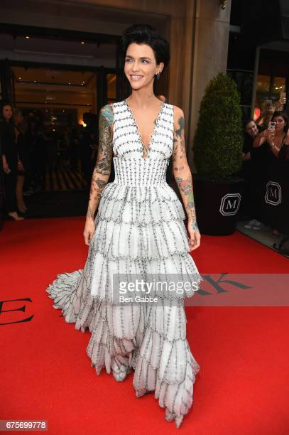 Ruby Rose leaves from The Mark Hotel for the 2017 'Rei Kawakubo/Comme des Garçons Art of the InBetween' Met Gala on May 1 2017 in New York City