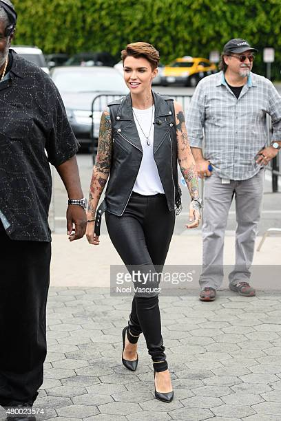 Ruby Rose visits 'Extra' at Universal Studios Hollywood on July 8 2015 in Universal City California