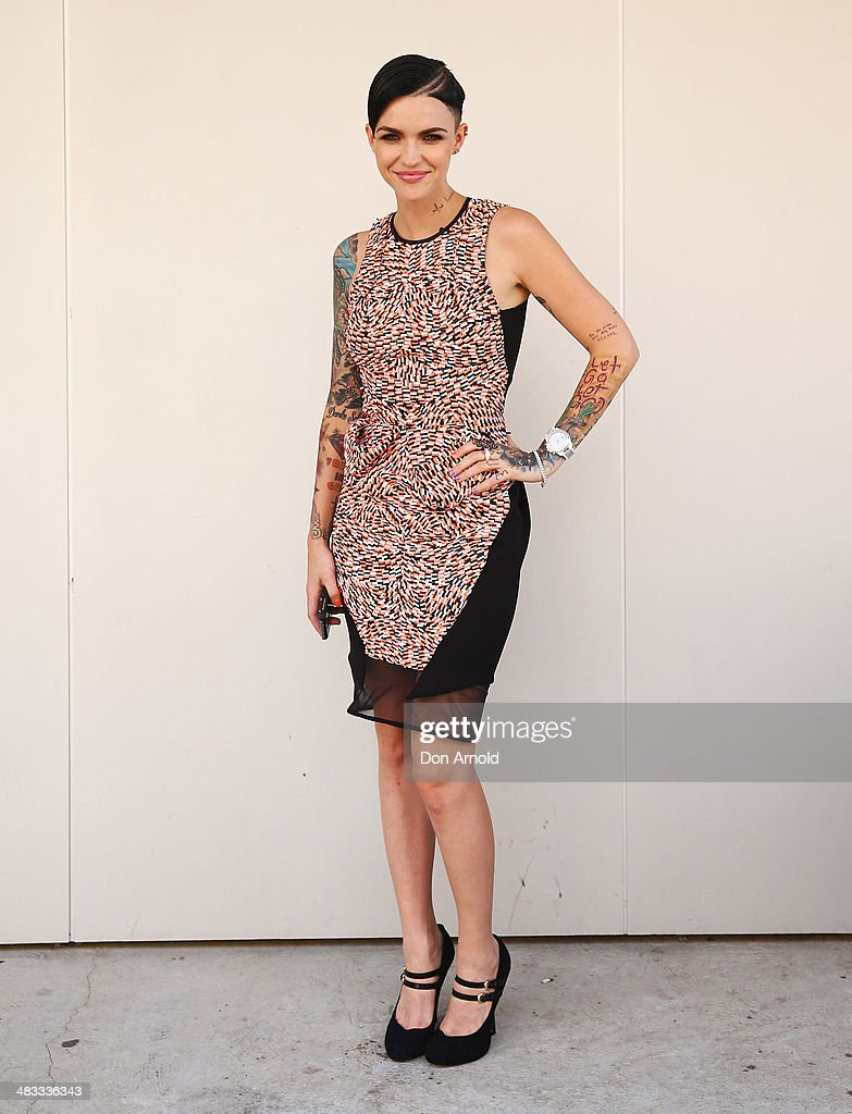 Ruby Rose wears Maticevski at Mercedes-Benz Fashion Week Australia 2014 at Carriageworks on April 7, 2014 in Sydney, Australia.