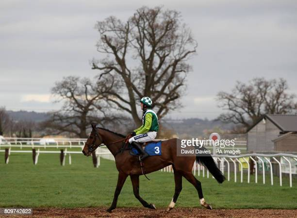 Ruby Walsh makes his way back in on Rangitoto after the tauntonracecoursecouk Novices Limited Handicap Chase at Taunton Racecourse
