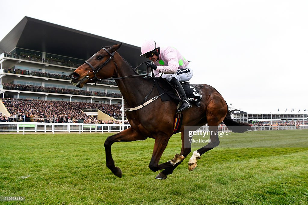 Ruby Walsh rides Douvan to victory in the Racing Post Arkle Challenge Trophy Chase on day one Champion Day of the Cheltenham Festival at Cheltenham...