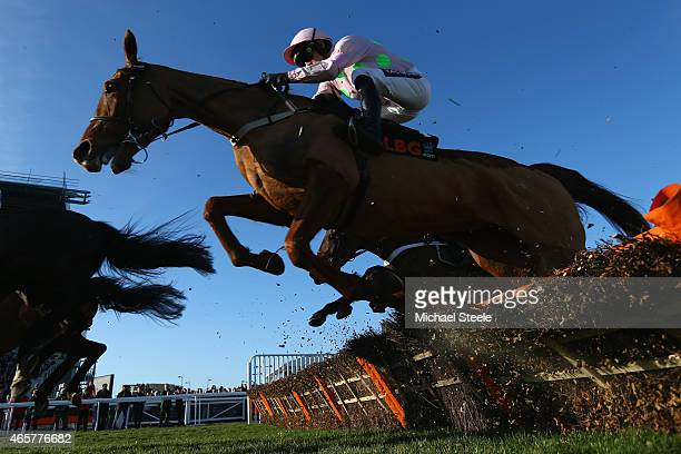 Ruby Walsh riding Annie Power during the Olbg Mares' Hurdle Race on day one at Cheltenham Racecourse on March 10 2015 in Cheltenham England
