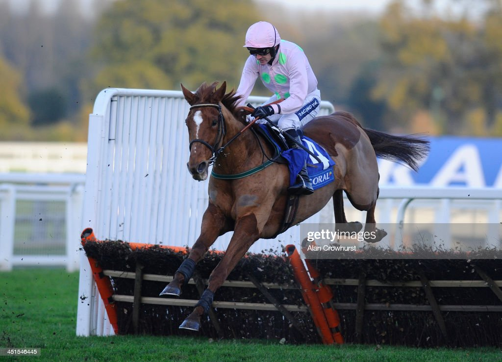 <a gi-track='captionPersonalityLinkClicked' href=/galleries/search?phrase=Ruby+Walsh&family=editorial&specificpeople=171838 ng-click='$event.stopPropagation()'>Ruby Walsh</a> riding Annie Power on their way to winning The Coral Hurdle Race Ascot racecourse on November 23, 2013 in Ascot, England.