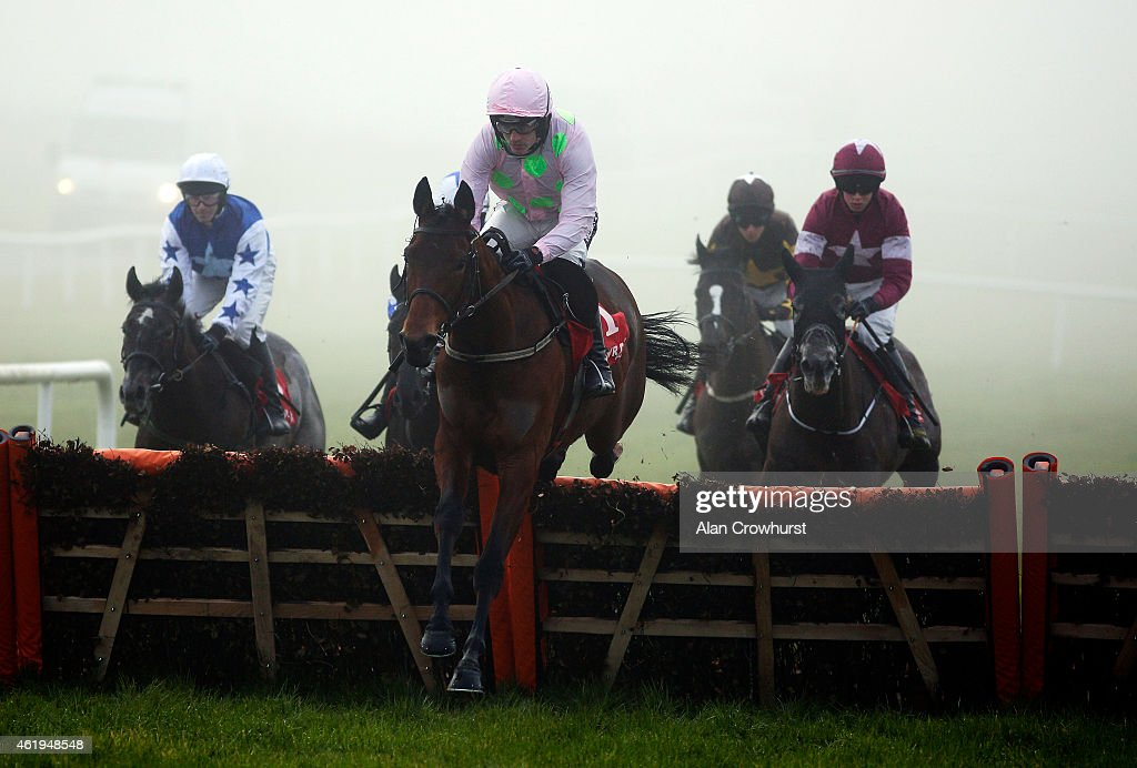 Ruby Walsh riding Dicosimo on their way to winning The Nugent Spirit 25 Horsebox Hurdle at Gowran Park racecourse on January 22, 2015 in Kilkenny, Ireland.