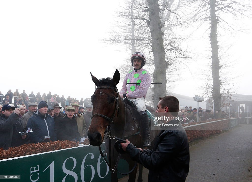 Ruby Walsh riding Djakadam win The Goffs Tyhestes Handicap Steeple Chase at Gowran Park racecourse on January 22, 2015 in Kilkenny, Ireland.